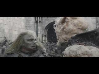 """Властелин Колец: Возвращение Короля (HD 720) (Сцена с тараном """"Гронд"""" в моей озвучке)"""